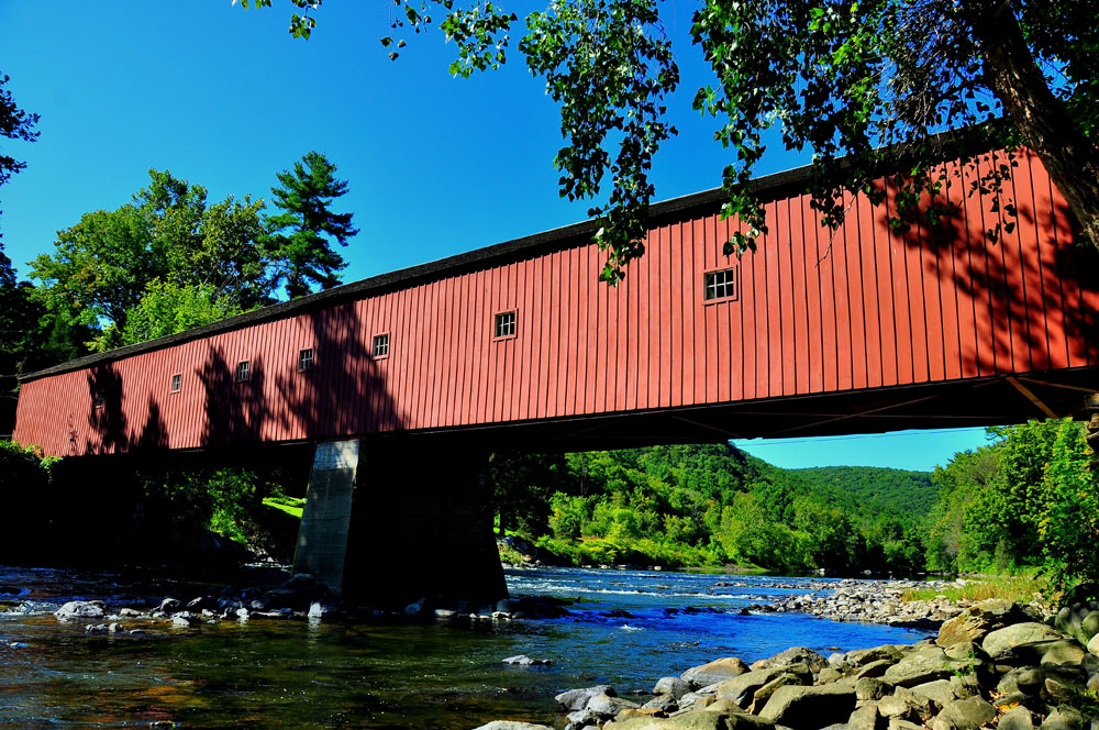 Covered bridge in West Cornwall